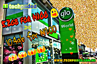 Latest Glo MB/Data Cheat, Get 5.2GB for N100 and 10.4GB for N200