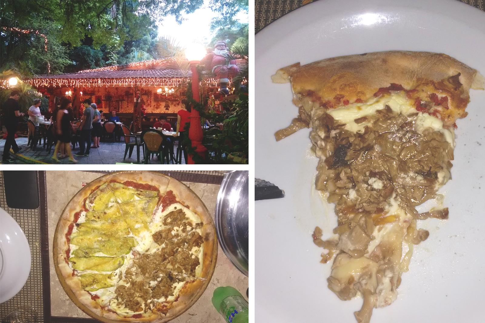 pizza de abobrinha e pizza de shitake