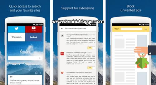 App Yandex Browser gratis para Android