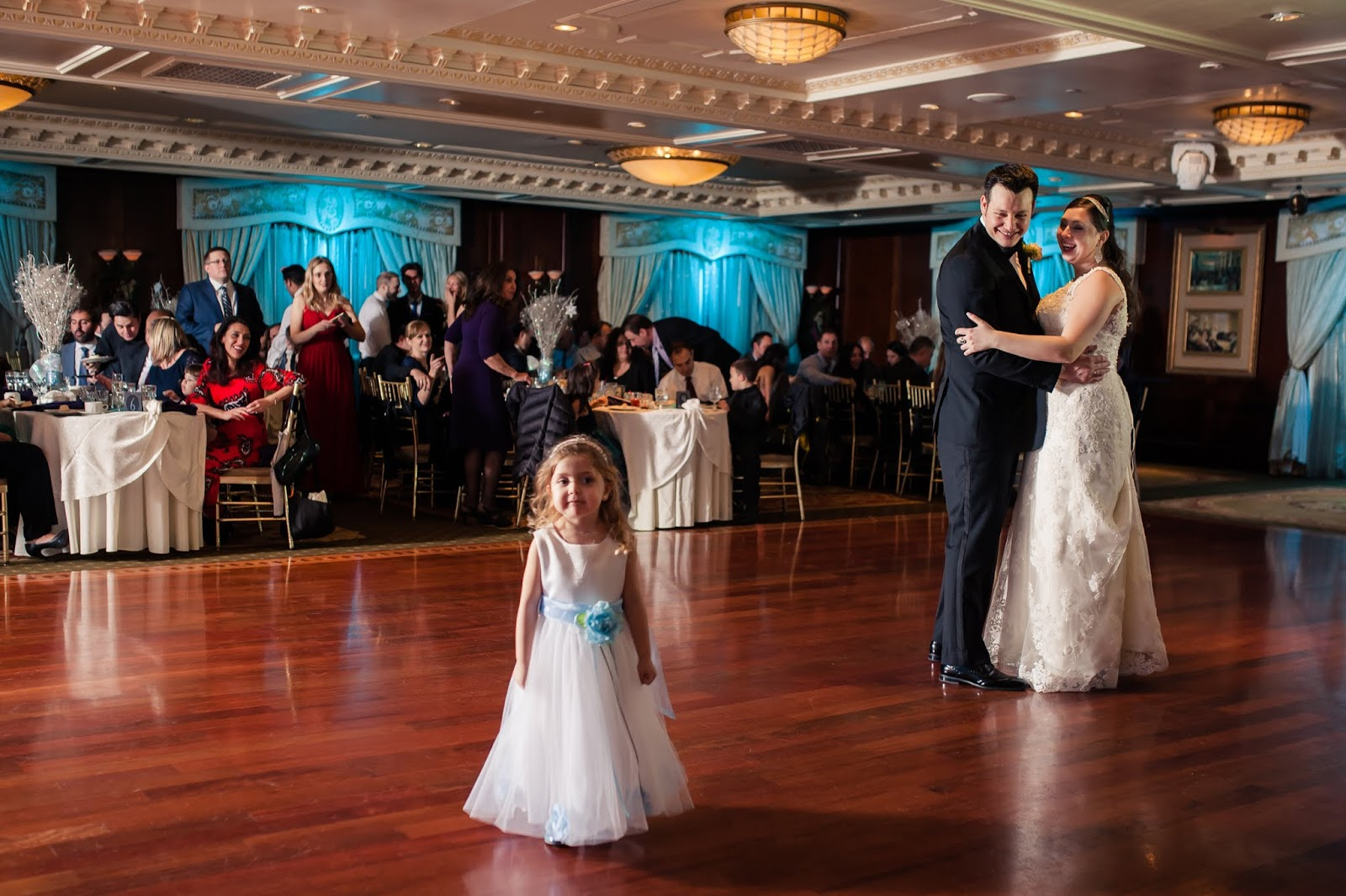 Couple Enjoying The Funny Moments During Their First Dance.