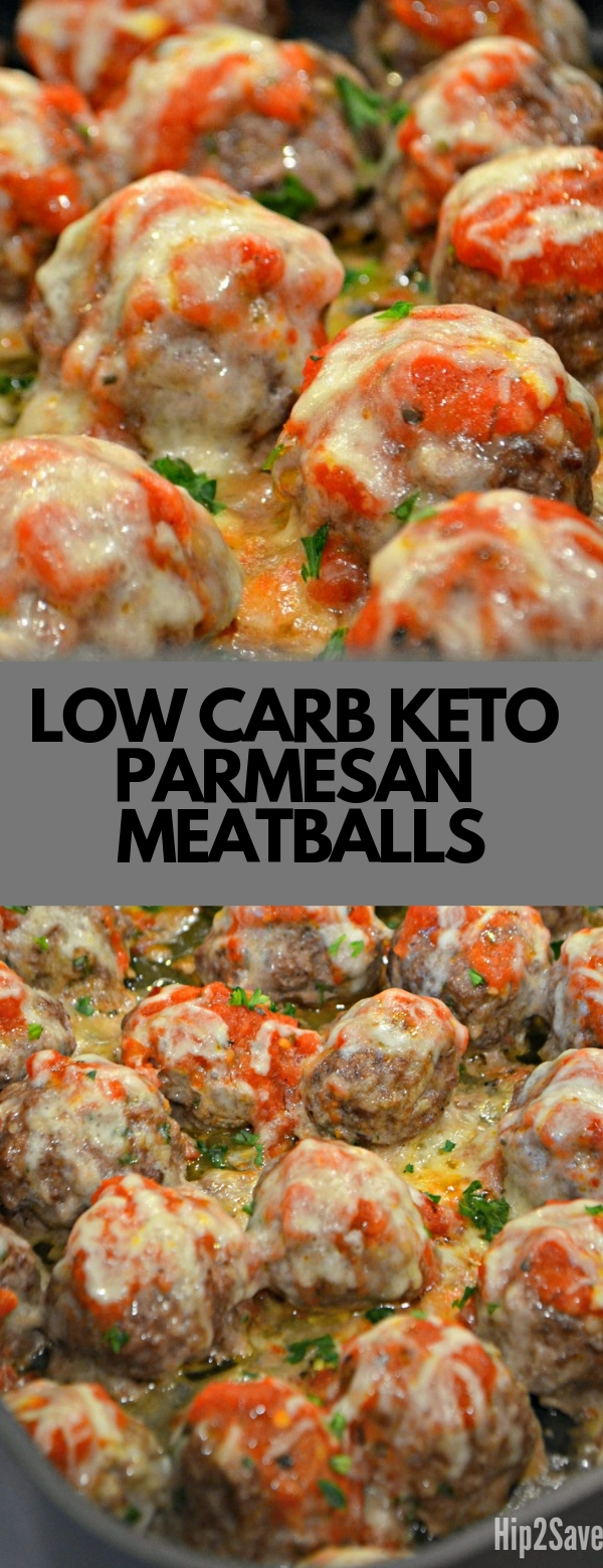 LOW CARB KETO PARMESAN MEATBALLS #LOWCARB #KETO #GLUTENFREE #MEATBALLS