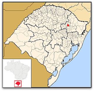 Mapa de Nova Prata, adaptado do Rio Grande do Sul