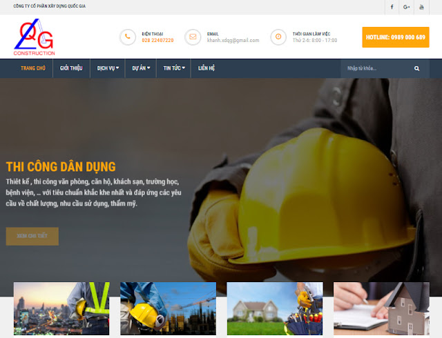 Website công ty wordpress