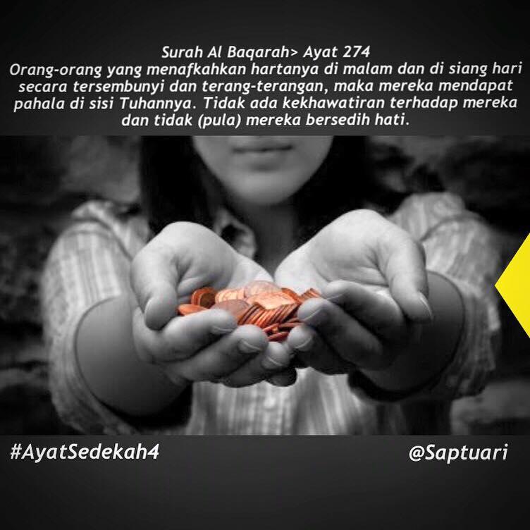 Sumber  Saptuari & Mau Kaya Harus Rajin SEDEKAH. INI AYAT-AYAT SEDEKAH... | Menggapai ...