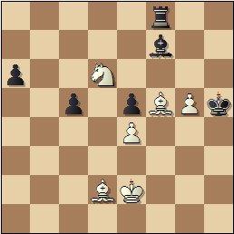 XIX Campeonato Individual de Cataluña 1950/51, partida de ajedrez Lladó vs. Bordell, posición después de 40…Af7?