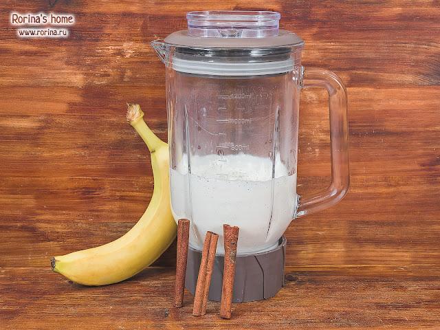 Творог с бананом: рецепт