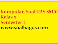Soal UAS Sejarah SMA/ MA Kelas 10 Prog IPS Semester 1/ Ganjil