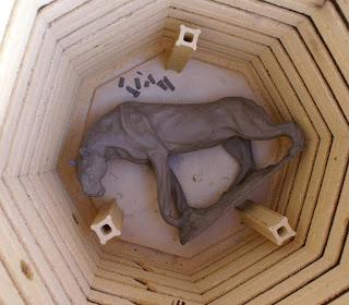 firing a clay sculpture, firing clay animal sculptures, clay firing techniques