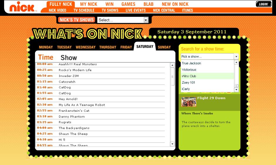 Winx Club on Nickelodeon: September 2011