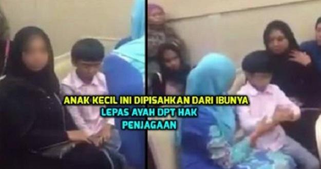 Tengok Anak Kecil Ini DIPISAHKAN Dari Ibunya Selepas Hak Penjagaan Jatuh Pada Ayah !!!