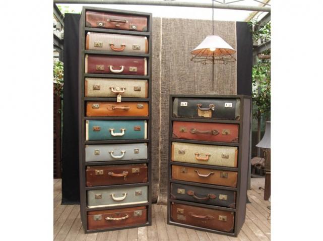 on r cup re de vieilles valises c 39 est tendance natacha fait sa d co. Black Bedroom Furniture Sets. Home Design Ideas