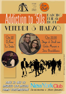 Addiction to '50s, Bergamo Danza e Jive Out! Sabato 3 Marzo serata per ballare Jive, Boogie Woogie e Swing