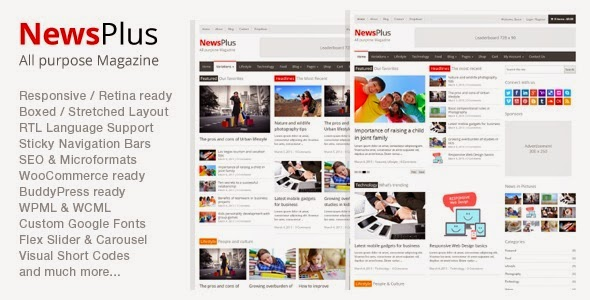 NewsPlus Magazine/Editorial - WordPress Theme