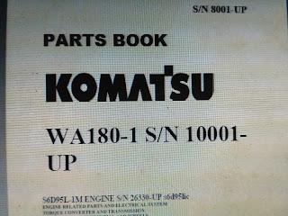 Parts Manual Komatsu WA180-1 1
