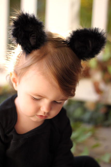 how to make a cat costume for little girl, the cutest halloween costume