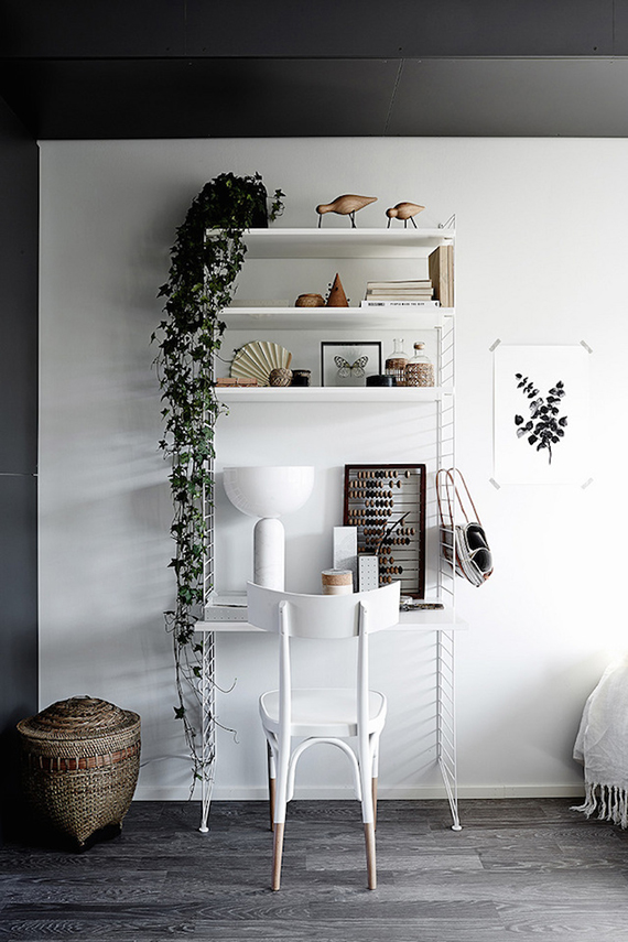 Scandinavian home office inspiration. Styling by Laura Seppänen and photography by Krista Keltanen