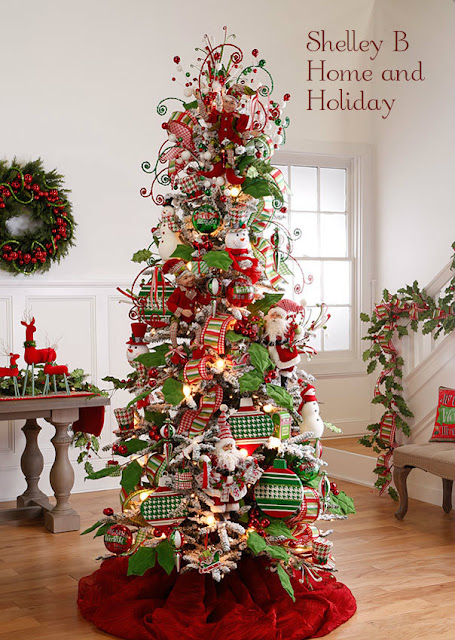 decorated Christmas tree image from the Holly and Houndstooth collection available at Shelley B Home and Holiday
