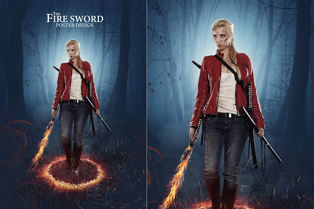 Fire Sword/Fantasy Art Photo Manipulation Tutorial