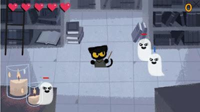 Kumpulan game Google doodle yang bisa dimainkan : halloween 2016