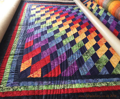 """Rainbow"" quilt made by Rosemary, quilted by Frances Meredith"