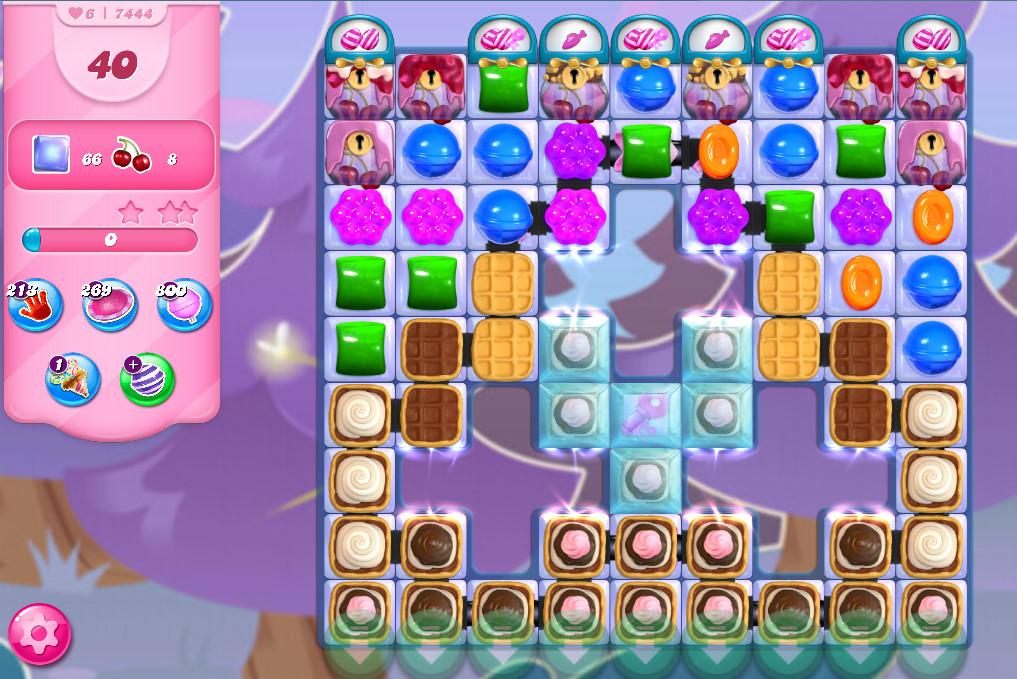 Candy Crush Saga level 7444