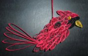 Filigree Quilled Paper Cardinal