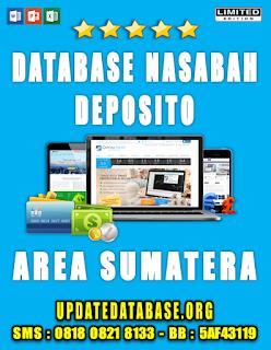 Jual Database Nasabah Deposito Sumatera