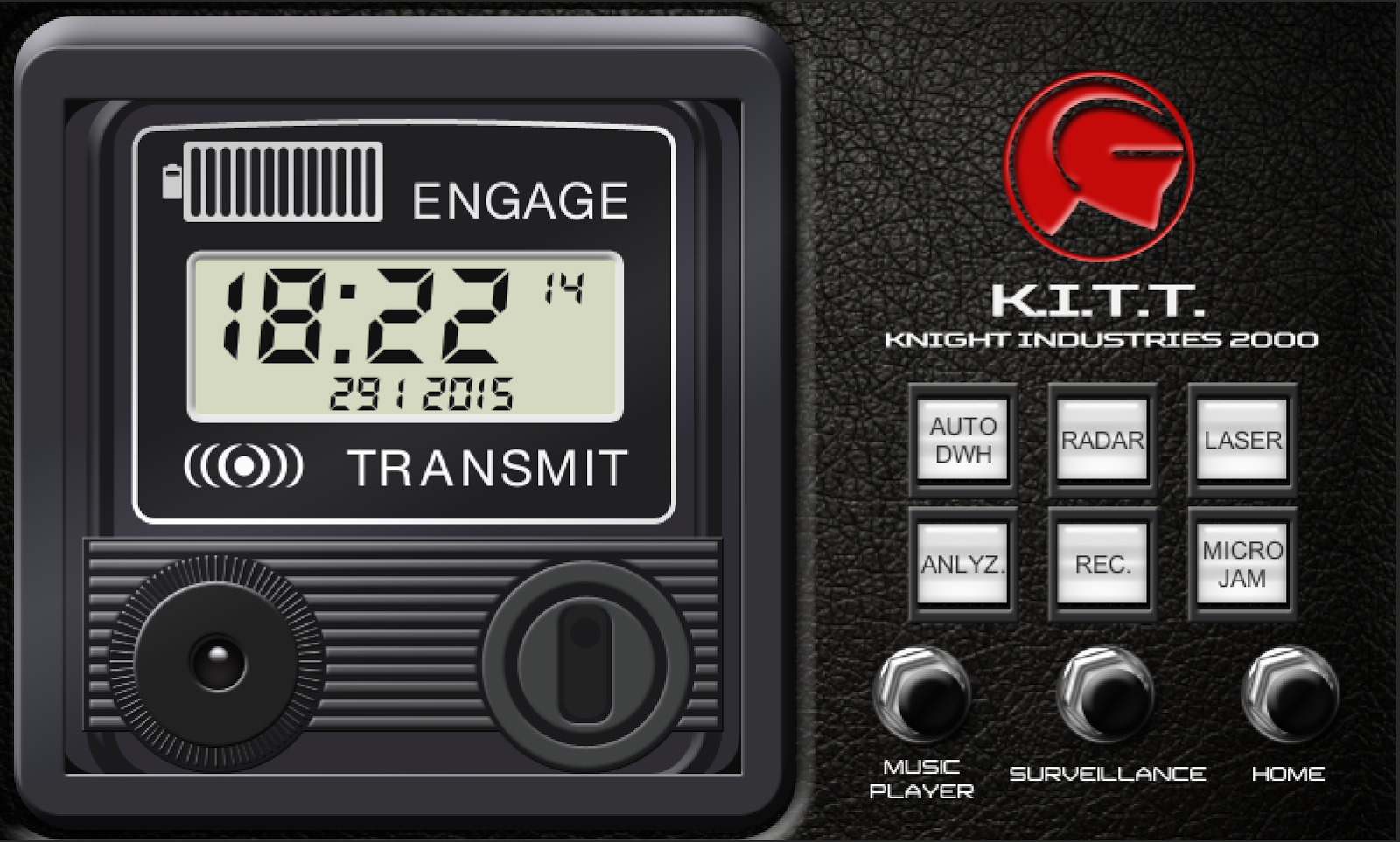 My Knight Rider 2000 project: Knight Rider Clock Screen WIP