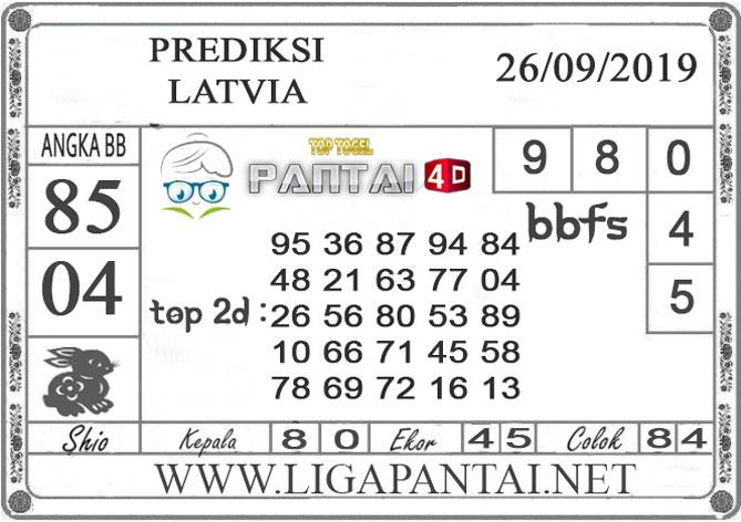"PREDIKSI TOGEL ""LATVIA"" PANTAI4D 26 SEPTEMBER 2019"