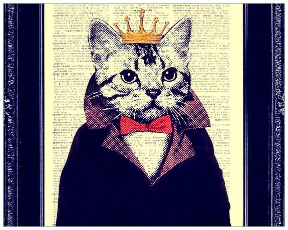 Dibujo de el rey de los gatos
