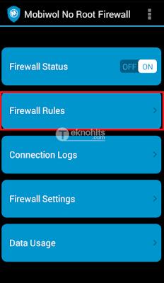 Aktifkan Firewall Status