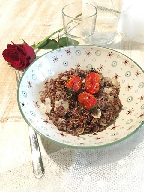 Riso Selvaggio con Funghi e Pomodorini al Forno