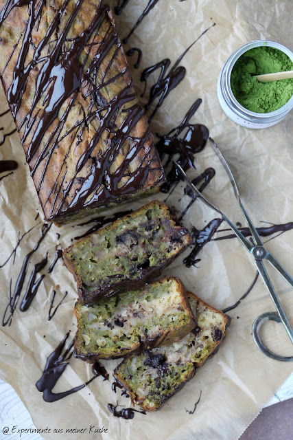 Experimente aus meiner Küche: Bananen-Walnuss-Kuchen mit Matcha