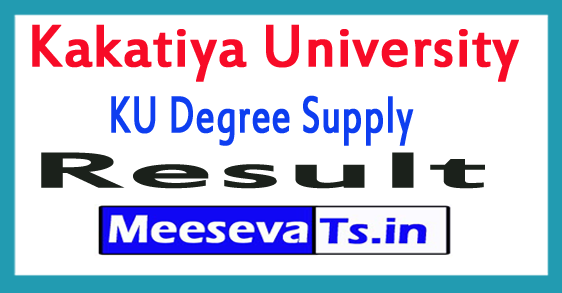 Kakatiya University KU Degree Supply Exam Results 2017