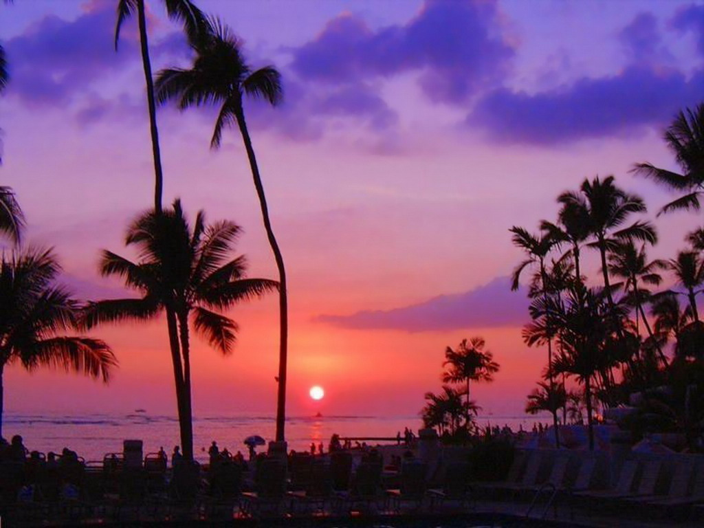 Hawaii Sunset | Beach Wallpaper