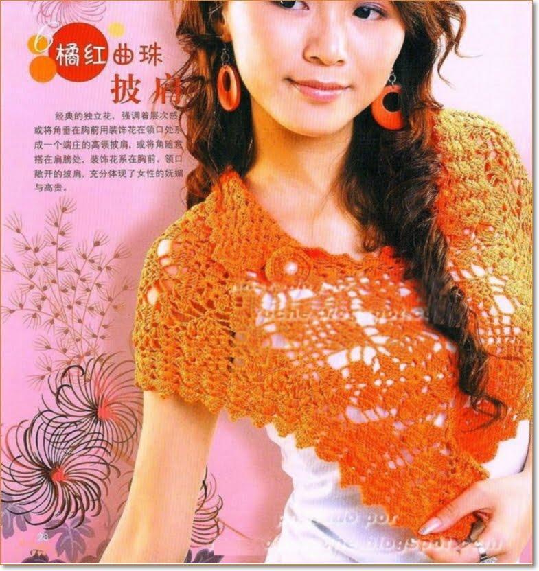 Patron Crochet Mini Capa-Poncho