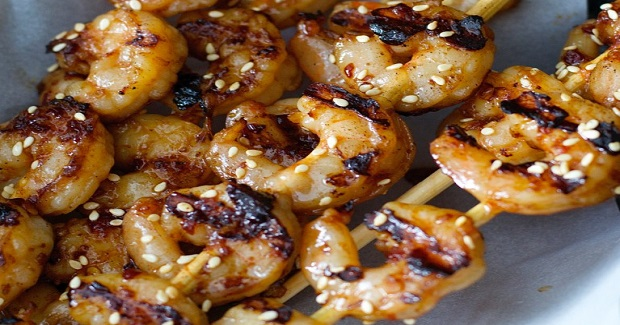 Sesame Shrimp Skewers Recipe