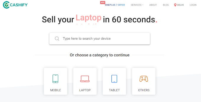Sell your Mobile, Laptop, Tablet in just 60 seconds.