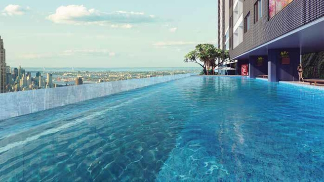 bể bơi chung cư goldlight complex