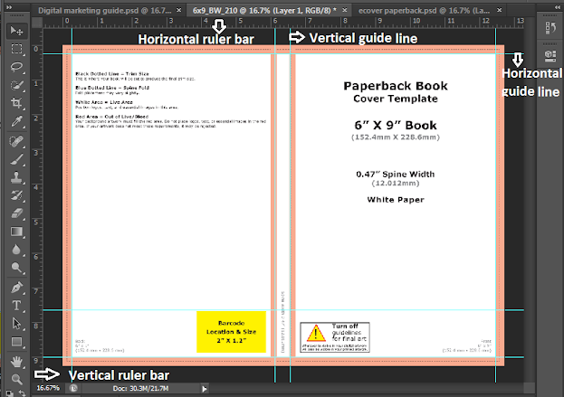 Screenshot: Insert horizontal and vertical guide lines