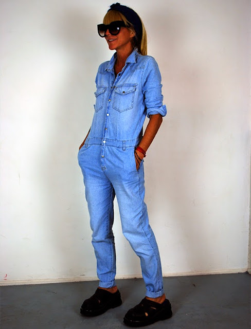 mono enterito denim jumpsuit cool