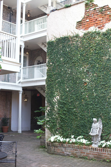 Brick and ivy courtyard in New Orleans