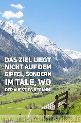 """""""Das Ziel liegt nicht auf dem Gipfel, sondern im Tale, wo der Aufstieg begann."""", Carl-Gustav Jung"""