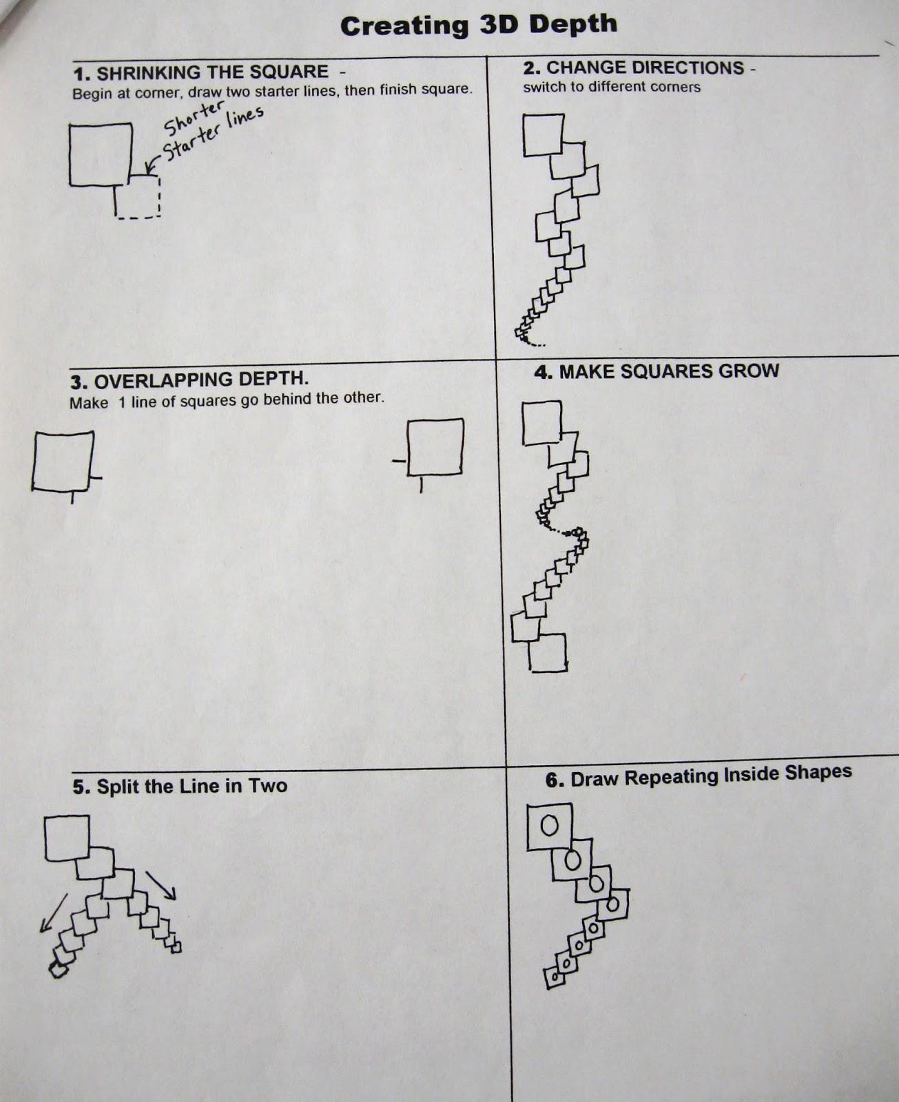 Abc School Art Shrinking Squares 5th