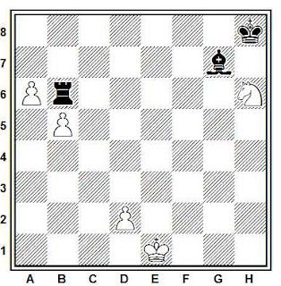 Estudio artístico de ajedrez compuesto por H. M. Matisson (1º Premio, Shakhmatny Listok, 1927)