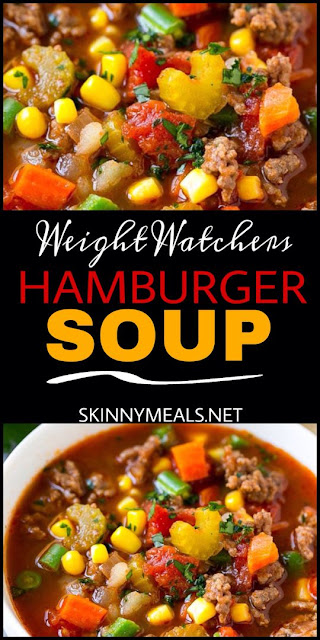 Hamburger Soup – Smartpoints 2  #weight watchers #soup recipes easy #weight watcher recipes