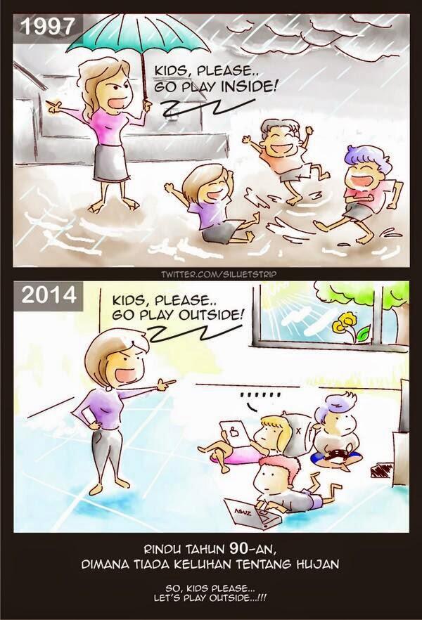 Orang Tua Tahun 90an vs Sekarang