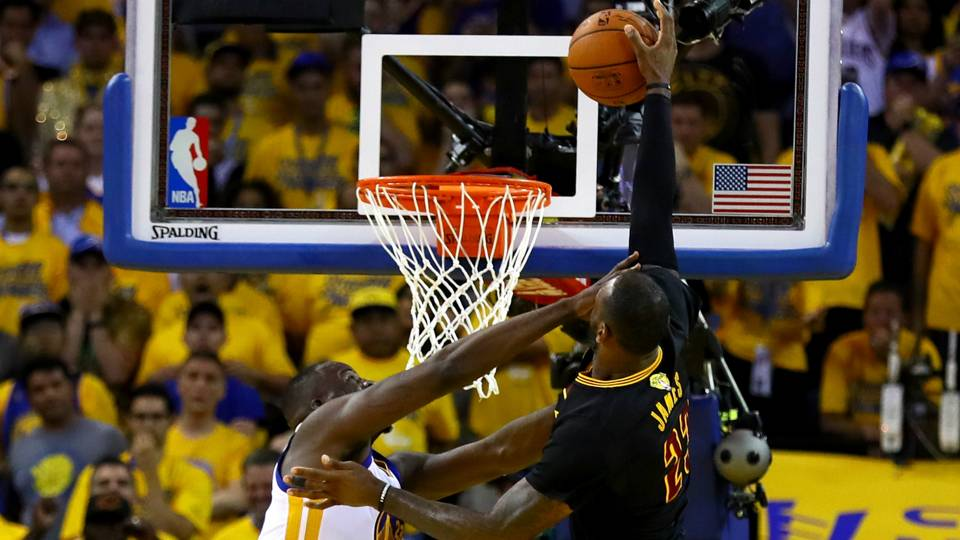 d1e65232503b LeBron James of the Cavaliers powers to the rack for a dunk attempt in the  final minute of Game 7 of the 2016 NBA Finals. James   Co. will begin their  quest ...