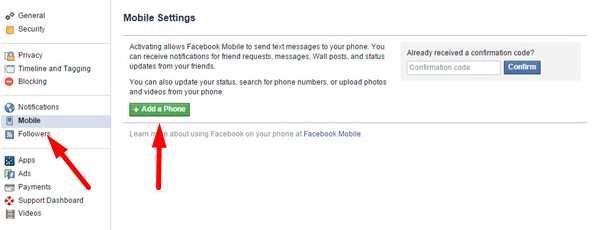 how to log into facebook with phone number