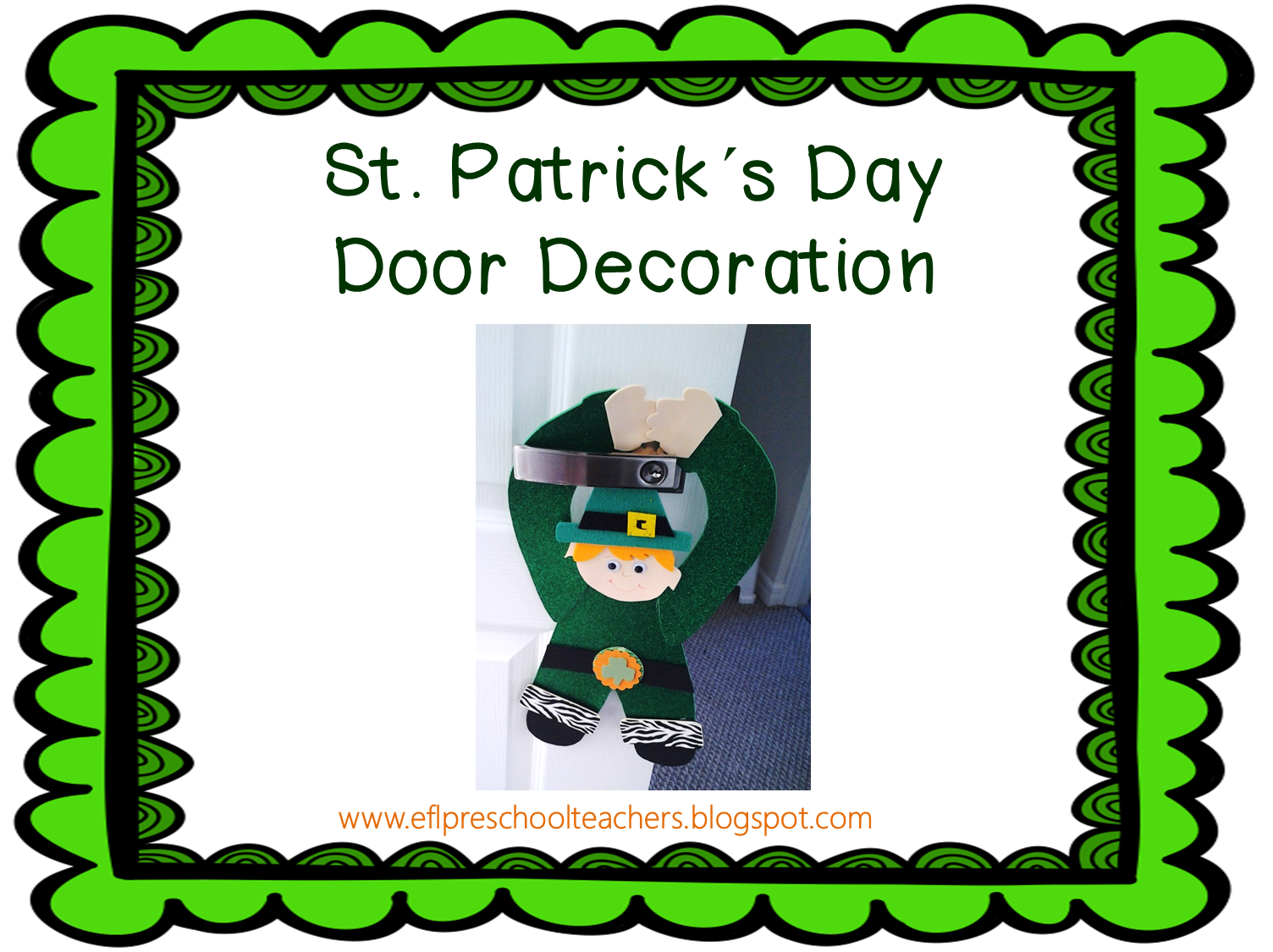 Efl Elementary Teachers St Patrick S Day